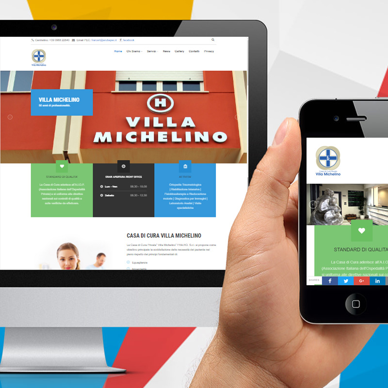 Nuovo sito web per la casa di cura privata villa michelino for Sito per progettare casa